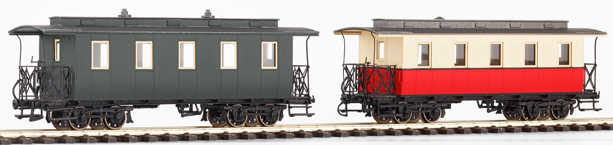 H0m HSA Personenwagen der Uerdinger Waggonfabrik Bj.1899 mit Y-Speichenrädern - Weinert 6293 - Komplettbausatz  | günstig bestellen bei Weinert-Bauteile