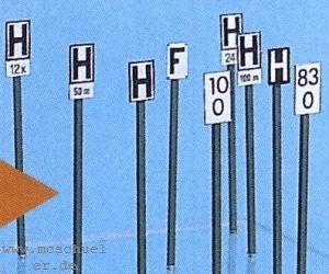 TT DB Kilometerzeichen und Haltetafeln - Weinert 5852 Bausatz | günstig bestellen bei Weinert-Bauteile