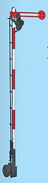 1:87 Schweizer Hauptsignal, einflüglig - Weinert 7002  - beleuchtete Ausführung als Bausatz | günstig bestellen bei Weinert-Bauteile