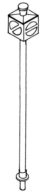 1:87 Gleissperre hohe Ausführung für Drehscheiben, beleuchtbar- Weinert 7235  | günstig bestellen bei Weinert-Bauteile