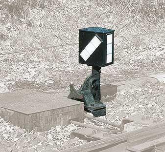1:87 Weichenlaterne rechts, direkt ansteuerbar mit Rückstrahlschild - Weinert 72452  - für Peco und Weinert Weichen  | günstig bestellen bei Weinert-Bauteile