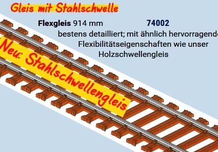 MG Code 75 Flexgleis mit Stahlschwellen, L=92cm - Weinert MeinGleis 74002 - Vorteilspackung mit  25 Stück | günstig bestellen bei Weinert-Bauteile