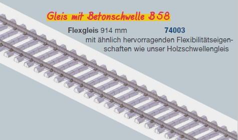 MG Code 75 Flexgleis mit Betonschwellen, L=92cm - Weinert MeinGleis 74003 - Vorteilspackung mit  25 Stück | günstig bestellen bei Weinert-Bauteile