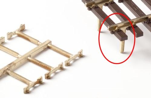 MG Code 75 Schienenverbinder mit angegossener Schraube, 8 Stück - Weinert MeinGleis 74019  - für Modulübergänge | günstig bestellen bei Weinert-Bauteile