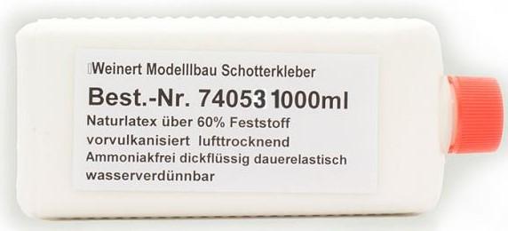 Latex Schotterkleber mit sehr guter Schalldämmung, 1000ml - Weinert 74053 - preiswertere Großmenge | günstig bestellen bei Weinert-Bauteile