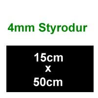 Schalldämmung 4mm Platte Styrodur, 150 x 500mm - Weinert 74221  - ideal als Füllplatte zwischen den Gleisen | günstig bestellen bei Weinert-Bauteile