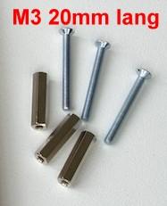 Gewindebolzen mit Schrauben M3, L=20mm, je 10 Stück-Weinert 74303  | günstig bestellen bei Weinert-Bauteile