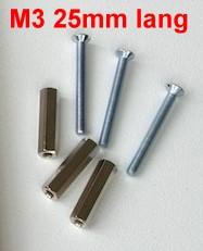 Gewindebolzen mit Schrauben M3, L=25mm, je 10 Stück-Weinert 74304  | günstig bestellen bei Weinert-Bauteile