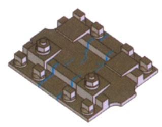 Kleineisen - Rippenplatten Rp18, für den Gleitbereich der beweglichen Weichenzungen - Weinert 74353  - 14 Stück | günstig bestellen bei Weinert-Bauteile