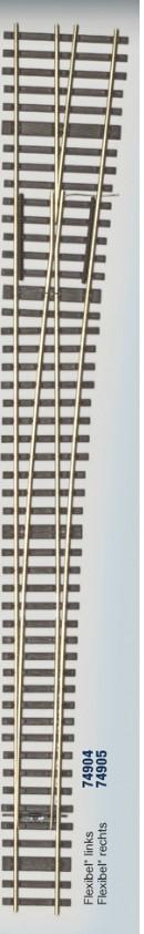 MG Code 75 Weiche rechts 1:9 - Weinert MeinGleis  | günstig bestellen bei Weinert-Bauteile