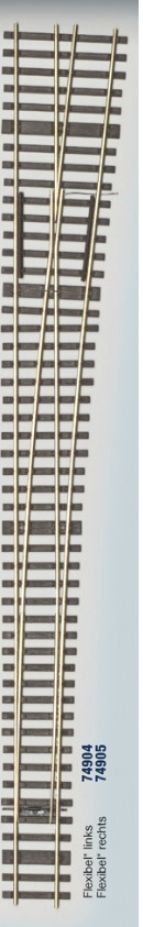 MG Code 75 Weiche 1:9 rechts, Bausatz - Weinert MeinGleis 74908  | günstig bestellen bei Weinert-Bauteile