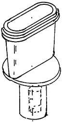 1:87 Flacher Schlot Giesel Ejektor für BR 38- Weinert 8027  | günstig bestellen bei Weinert-Bauteile