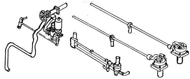 1:87 Sicherheitsventil, Ackermann mit Leitungen, Dampfpfeife mit Leitung, 2 Stück. - Weinert 8305  | günstig bestellen bei Weinert-Bauteile