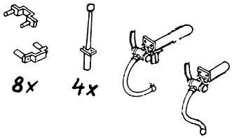 1:87 Griffe und 2 Bremsschläuche 1 Satz- Weinert 8466  | günstig bestellen bei Weinert-Bauteile