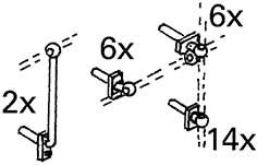 1:87 Griffstangenhalter klein für bayerische Lokomotiven, 1 Satz - Weinert 8468  | günstig bestellen bei Weinert-Bauteile