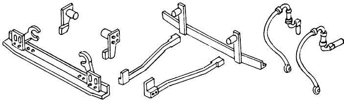 1:87 H0e-H0m Schienenräumer und Bremsschläuche für Mallet, 2 Stück - Weinert 8548  | günstig bestellen bei Weinert-Bauteile