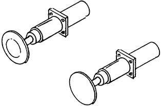 1:87 Stangenpuffer gefedert, für Länderbahnloks, mit recht- eckigem Flansch, brüniert 4St. - Weinert 8606  | günstig bestellen bei Weinert-Bauteile
