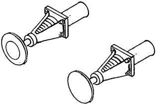 1:87 Korbpuffer gefedert, 2-fach geschlitzt, brüniert, 4 Stück- Weinert 8608  | günstig bestellen bei Weinert-Bauteile