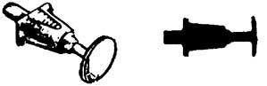 1:87 Korbpuffer für Länderbahnloks 4-fach geschlitzt, ungefedert aus Kunststoff, 4 Stück - Weinert 86102  | günstig bestellen bei Weinert-Bauteile