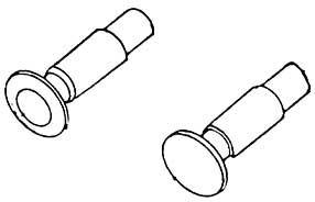1:87 Federpuffer d=4,3mm - Weinert 86141  - Tellerdurchmesser nicht durchstossend | günstig bestellen bei Weinert-Bauteile