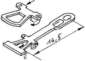 1:87 Kupplung geätzt 14,5mm lang - Weinert 86201  | günstig bestellen bei Weinert-Bauteile