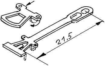 1:87 Kupplung geätzt 21,5mm - Weinert 86202  | günstig bestellen bei Weinert-Bauteile
