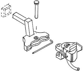1:87 Kadee Kupplungskopf (2) zum Einstecken in Puffebohle von Modellen ohne NEM-Schacht - Weinert 86569  | günstig bestellen bei Weinert-Bauteile