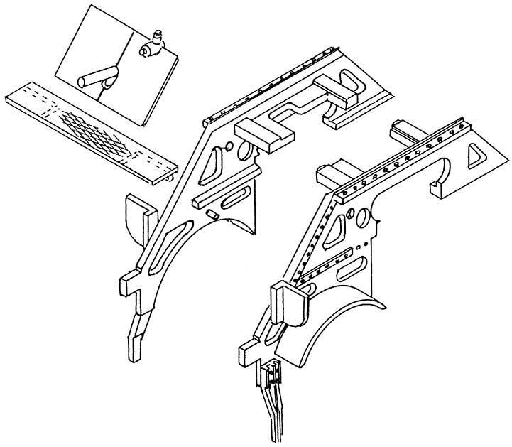 1:87 Vordere Rahmenpartie BR 01.10 1 Satz- Weinert 87005  | günstig bestellen bei Weinert-Bauteile