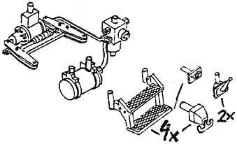 1:87 H0e-H0m Tritte, Bremszylinder für Harzwagen der HSB, 1 Satz- Weinert 87008  | günstig bestellen bei Weinert-Bauteile