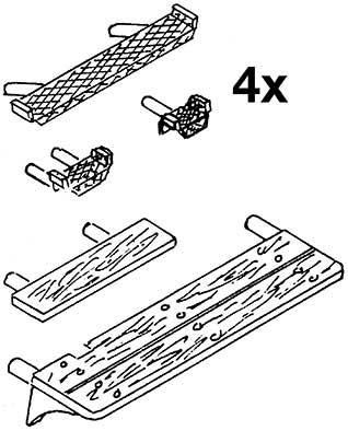 1:87 Tritte für Kessel und Kohle- kasten BR 85, 1 Satz- Weinert 87017  | günstig bestellen bei Weinert-Bauteile