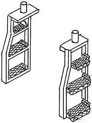 1:87 Tenderleitern f.Tender2�2�T34 1 Satz- Weinert 87019  | günstig bestellen bei Weinert-Bauteile