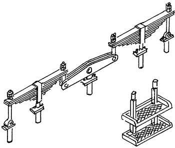 1:87 Aufstiegstritte und Federpakete für T3, 1 Satz- Weinert 87023  | günstig bestellen bei Weinert-Bauteile