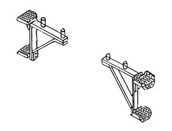 1:87 Aufstiegstritte für Puffer- bohlen von Einheitslokomotiven z.B. BR 64, BR 01, 2 Stück - Weinert 8703  | günstig bestellen bei Weinert-Bauteile