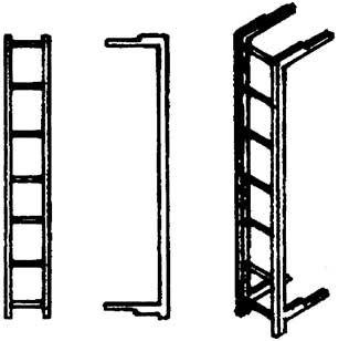 1:87 Leitern für Wagenstirnwand von Reisezugwagen, 2 St. - Weinert 87036  | günstig bestellen bei Weinert-Bauteile