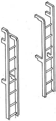 1:87 Leitern für Tenderrückwand für 2�2�T26-Weinert 87048  | günstig bestellen bei Weinert-Bauteile