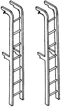 1:87 Leitern für Tenderrückwand von Einheitslokomotiven, 2 Stück- Weinert 8706  | günstig bestellen bei Weinert-Bauteile