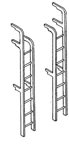 1:87 Tenderleitern für Schlepp- tender, 2 Stück- Weinert 8714  | günstig bestellen bei Weinert-Bauteile