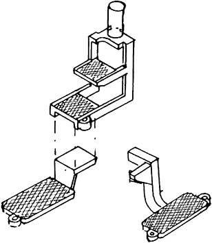 1:87 Treppe für V 65, 1 große, 1 kleine- Weinert 8715  | günstig bestellen bei Weinert-Bauteile