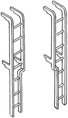 1:87 Tenderleiter f. Tender 2�2�T32 2 Stück- Weinert 8728  | günstig bestellen bei Weinert-Bauteile