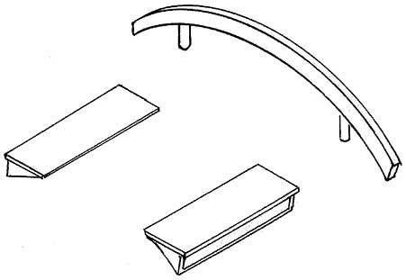1:87 Satz Dachlüfter und Windabweiser - Weinert 8807  | günstig bestellen bei Weinert-Bauteile
