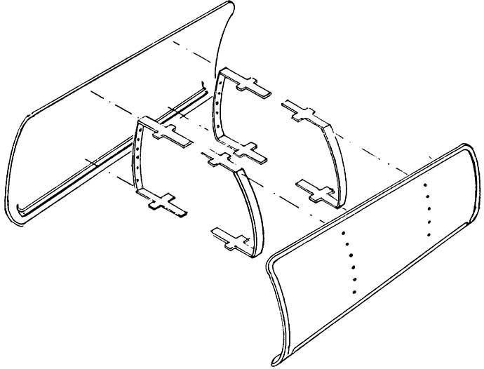 1:87 Windleitbleche Bauart Witte für BR 01 Neubau, BR 50, BR 41 Neubau, 1 Paar - Weinert 8900  | günstig bestellen bei Weinert-Bauteile