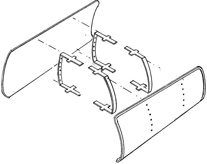 1:87 Windleitbleche Bauart Witte für BR 01, BR 50, ohne Schlitz 1 Paar - Weinert 8901  | günstig bestellen bei Weinert-Bauteile
