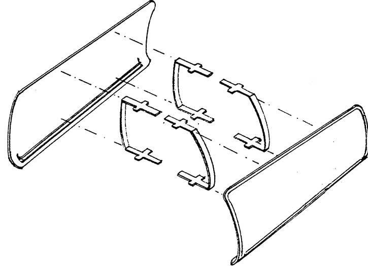1:87 Windleitbleche Bauart Witte für BR 23, 1 Paar- Weinert 8910  | günstig bestellen bei Weinert-Bauteile