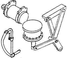 1:87 H0e-H0m Bremszylinder und Luftkessel für Weyer-Wagen, 1 Satz - Weinert 8919  | günstig bestellen bei Weinert-Bauteile