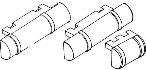 1:87 Bremsdruckluftkessel, Halb- relief Weißmetall, 3 Größen je 1 Stück - Weinert 8920  | günstig bestellen bei Weinert-Bauteile