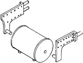 1:87 Bremsluftbehälter für BR 55 mit Halter, 1 Stück- Weinert 8923  | günstig bestellen bei Weinert-Bauteile