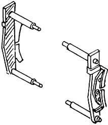 1:87 Bremsbacken mit einem Brems- eisen für Rad d=13-15mm 4 Paar - Weinert 8931  | günstig bestellen bei Weinert-Bauteile
