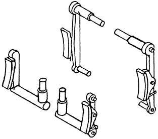 1:87 Bremsen für BR 93, 4 Paar - Weinert 8947  | günstig bestellen bei Weinert-Bauteile