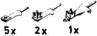 Mehr Details und Kaufen von 1:87 Halter für Loklaternen, 8 Stück - Weinert 90011  - 3 verschiedene Ausführungen   günstig bestellen bei Weinert-Bauteile