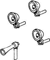 1:87 H0e-H0m Laternen (6) und Signalhorn (1) für Schmalspurtriebwagen - Weinert 9016  | günstig bestellen bei Weinert-Bauteile